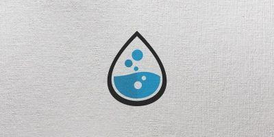 Drop Lab Logo Template