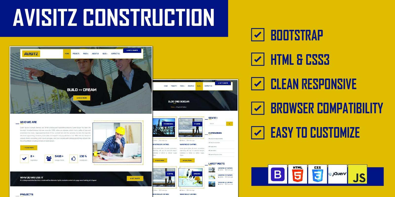 Avisitz - Building Construction Template