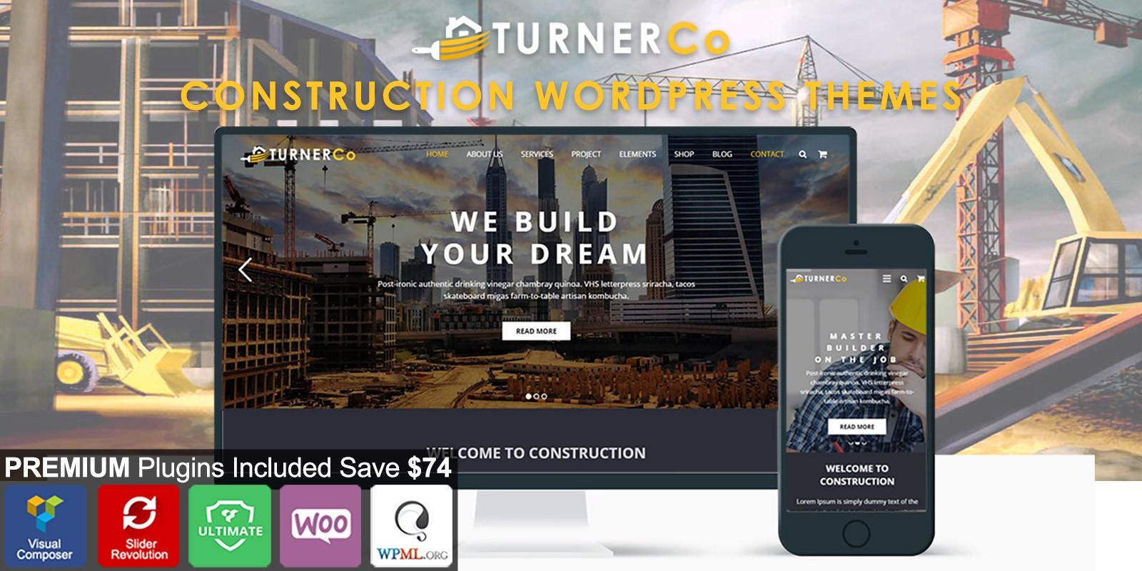 Turner - Construction WordPress Theme
