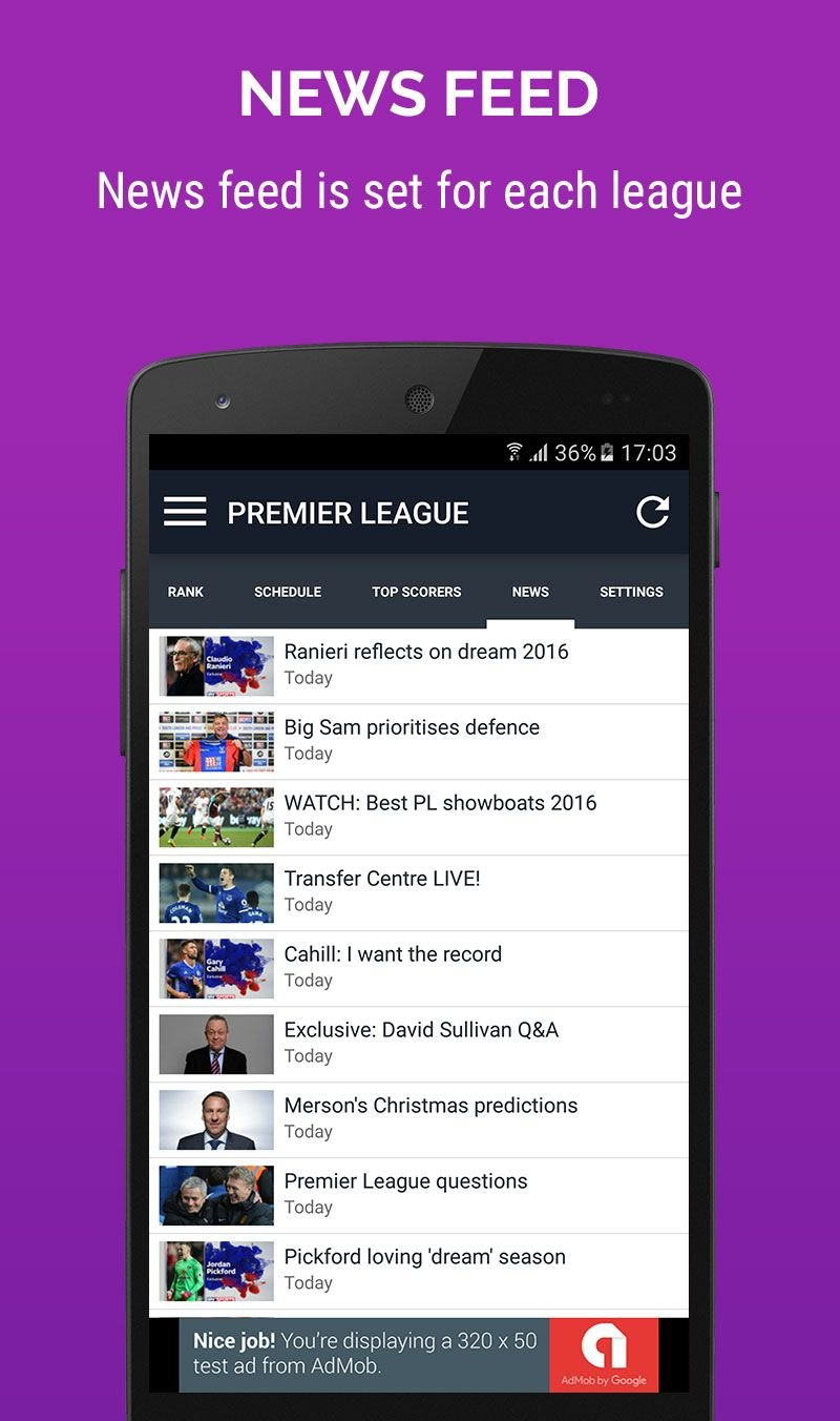 Scores and odds app for android
