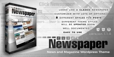 Click Newspaper - Wordpress Theme