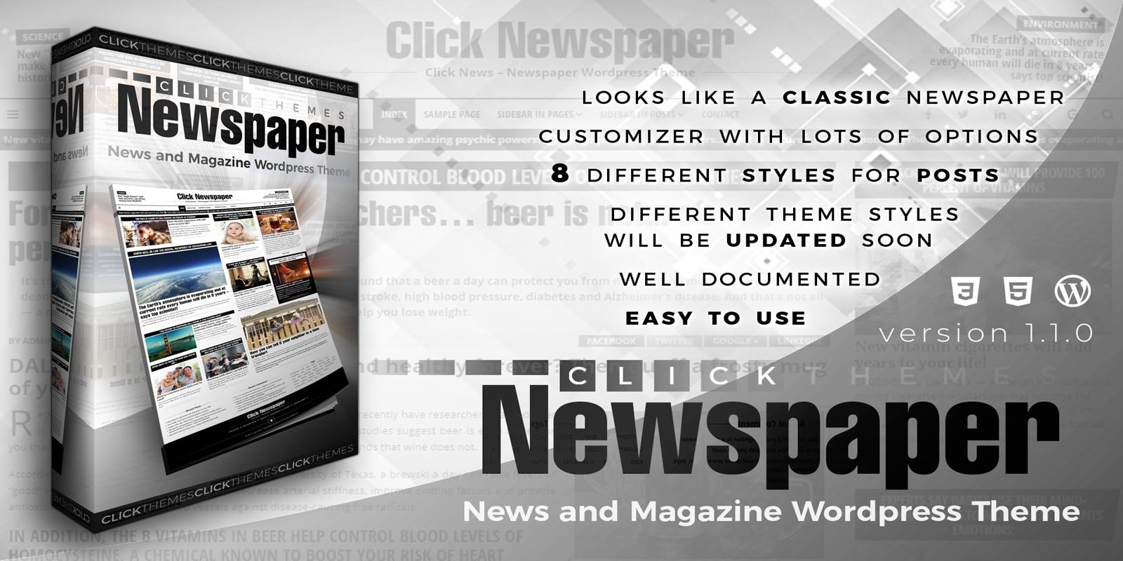 Click Newspaper - Wordpress Theme