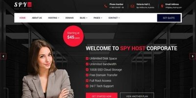 SPY - Hosting Bootstrap Template