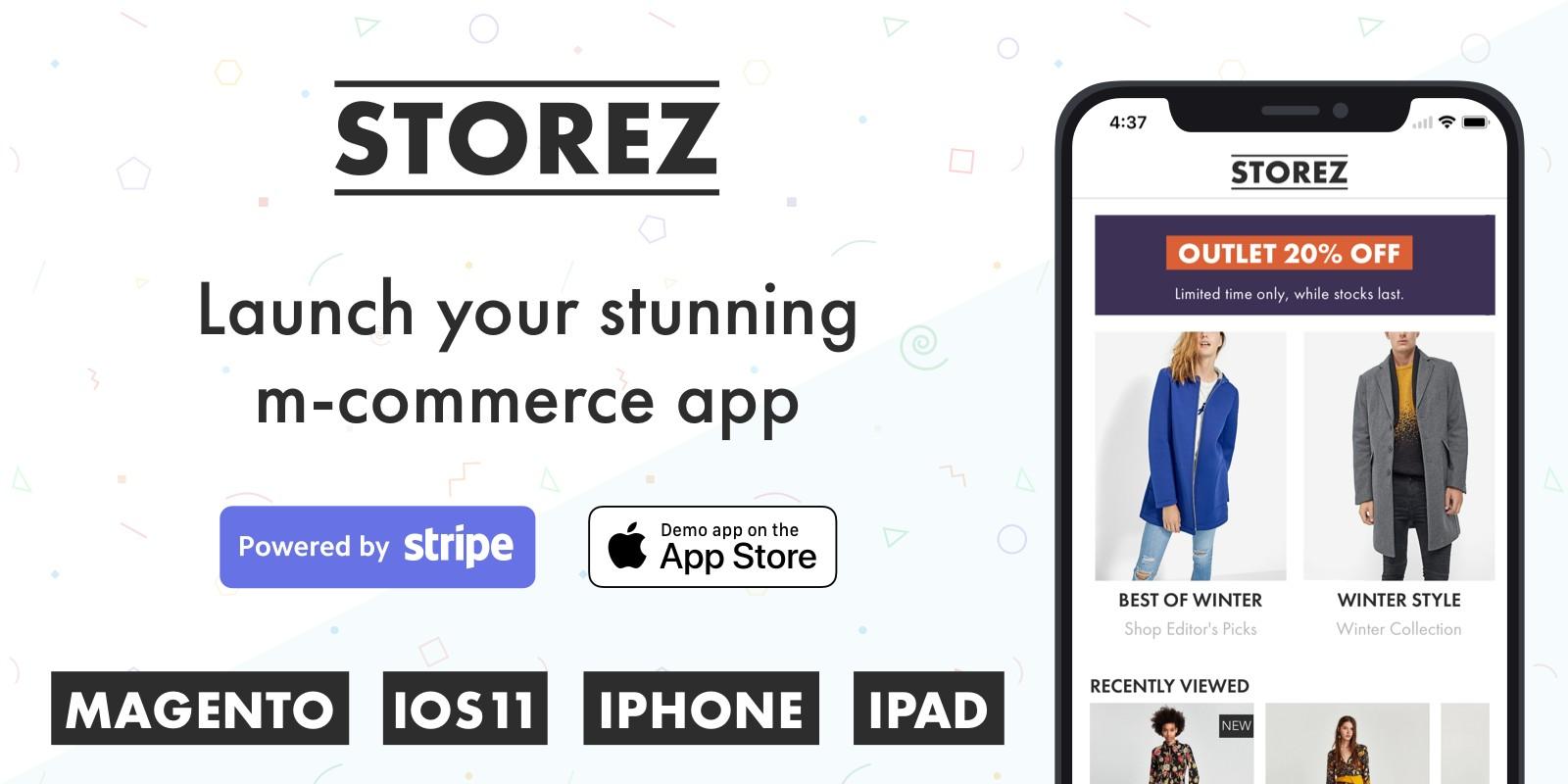 Storez - Magento iOS eCommerce App
