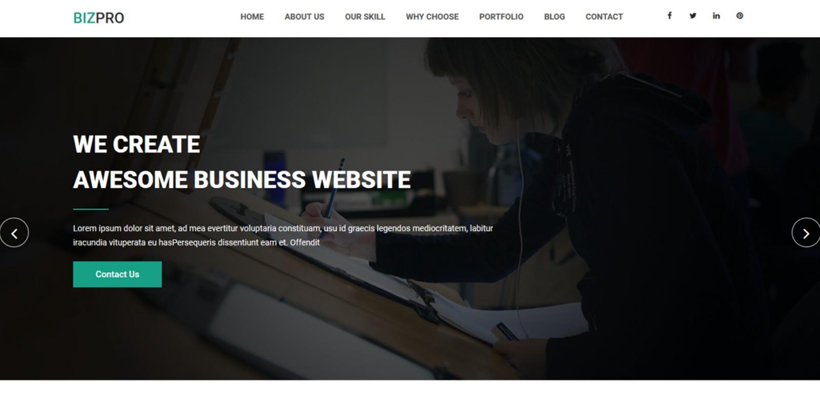 Bizpro - OnePage HTML Business Template