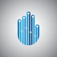 Tech Hand Logo Template