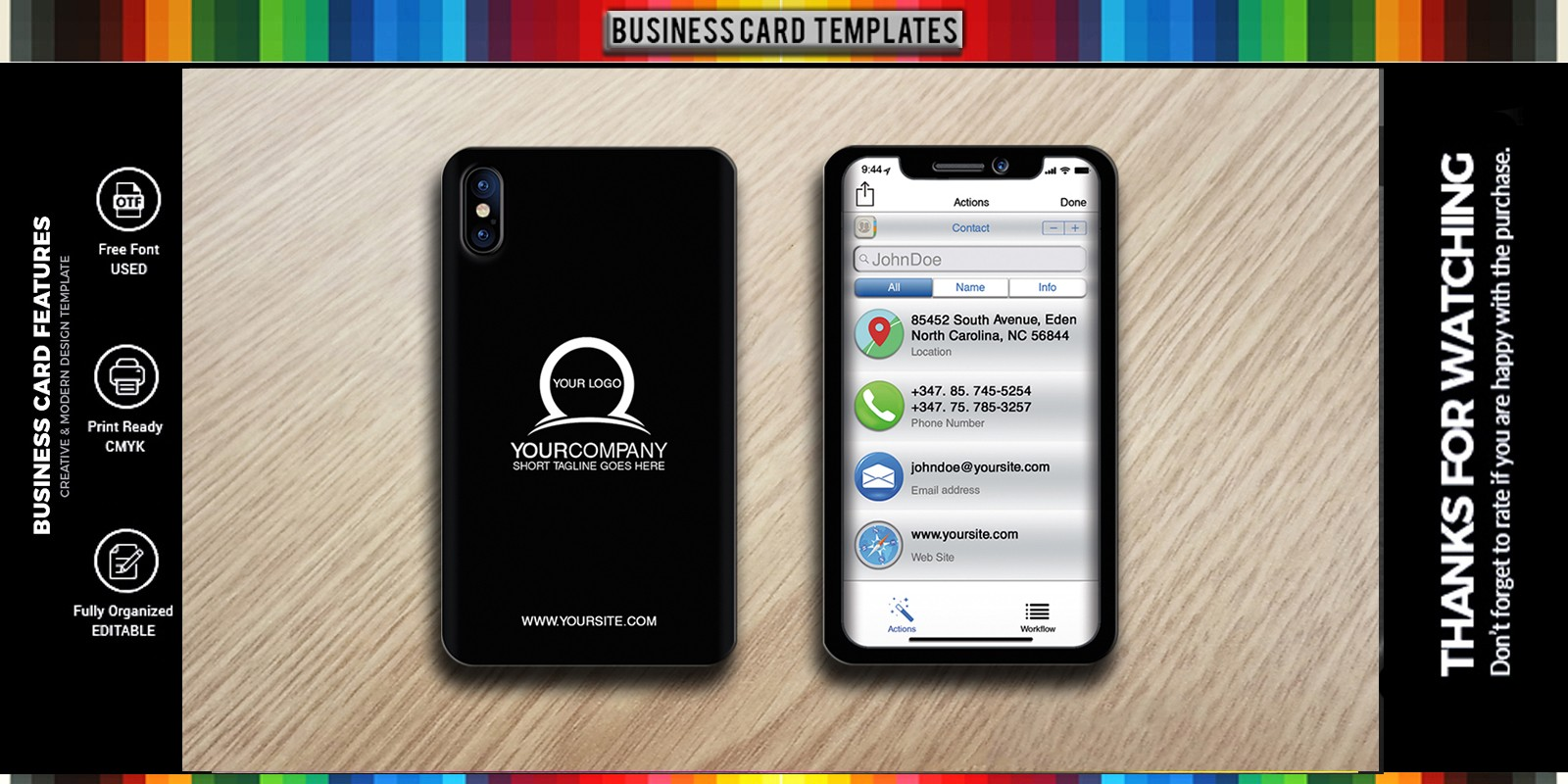 Miphone Business Card Design
