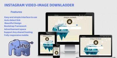 Instagram Video Image Downloader PHP