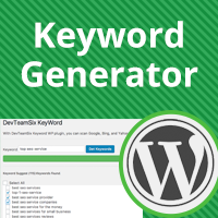 SEO KeyWord Generator WordPress Plugin