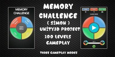 Memory Challenge Simon Unity3D Source Code