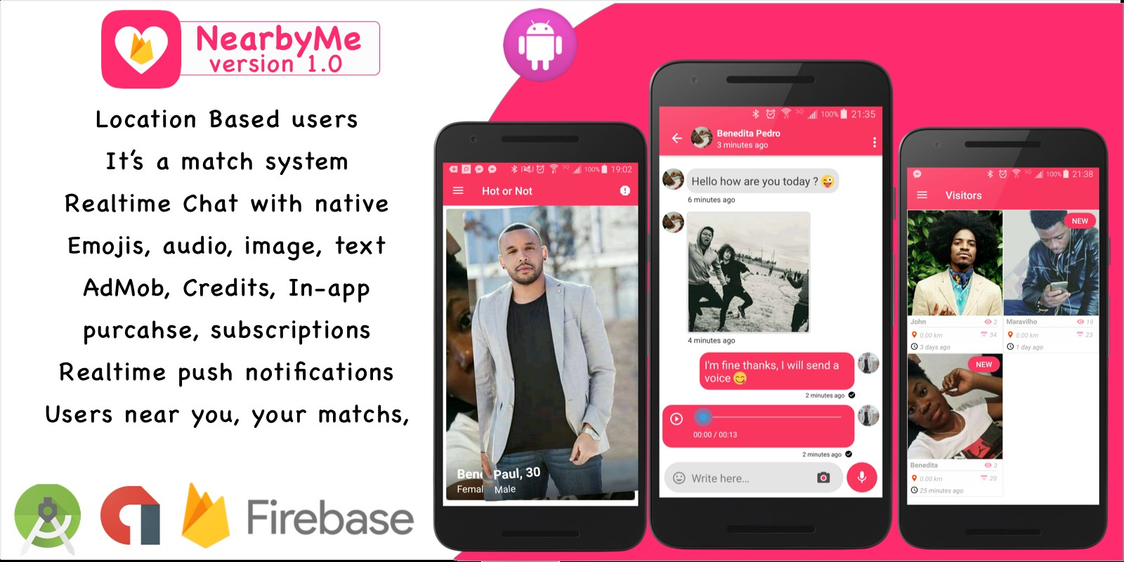 NearbyMe - Android Source Code