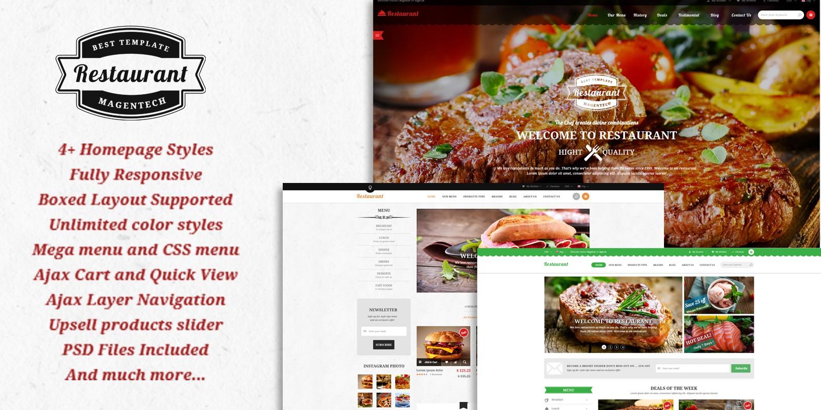 SM Restaurant - Ready-made design for Magento