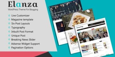Elanza Pro WordPress Theme