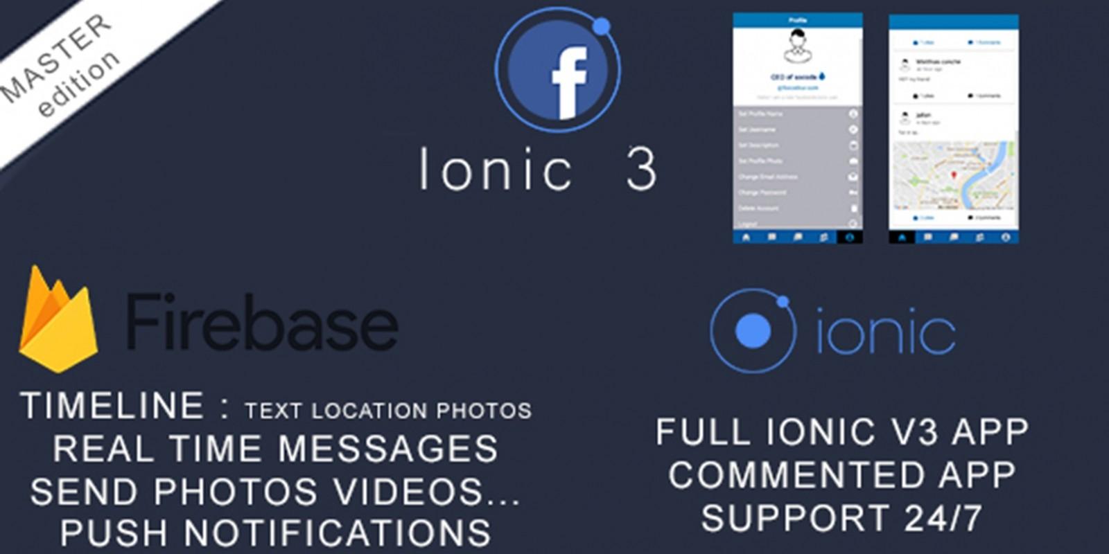 Facebook Clone - Ionic Firebase Backend
