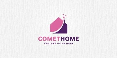 Comet Home Logo Template