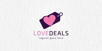 Love Deals Logo Template
