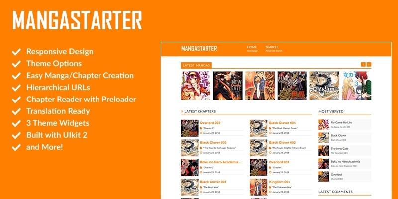 MangaStarter - Build a Manga Reader with WordPress