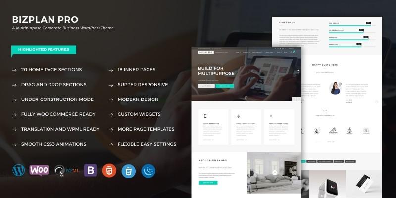 Bizplan Pro - WordPress Theme
