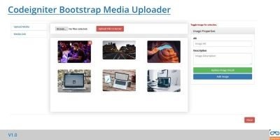 Codeigniter Bootstrap Upload Manager