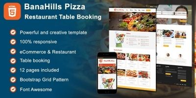 Pizza - Restaurant Table Booking HTML Template