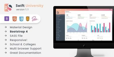 Swift University - Bootstrap 4 Dashboard Template