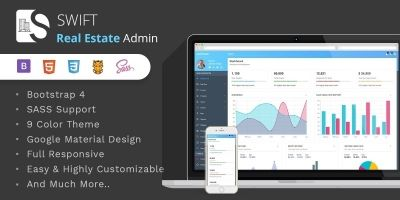 Swift Real Estate - Bootstrap 4 Dashboard Template