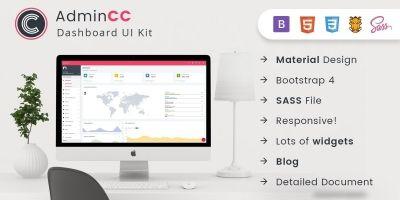 AdminCC - Bootstrap Material Design Premium Admin