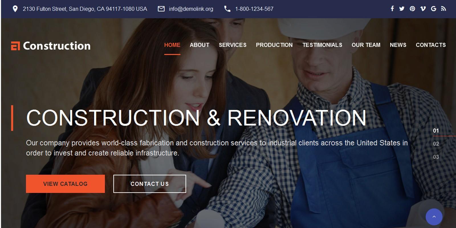 Construction - Construction Web Template