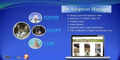 Pet Manager Adoption Script PHP