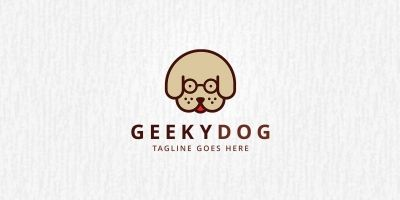 Geeky Dog - Logo Template