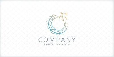 Digital Flower - Logo Template