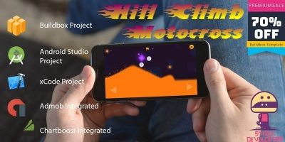 Hill Climb Motocross - Buildbox Template