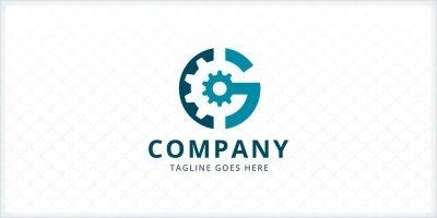 Letter G Gear Logo Template