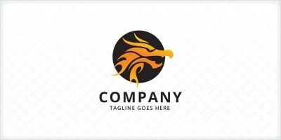 Fire Dragon - Logo Template