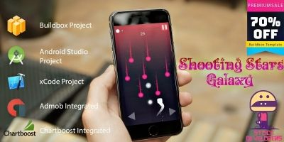 Shooting Stars Galaxy - Buildbox Template