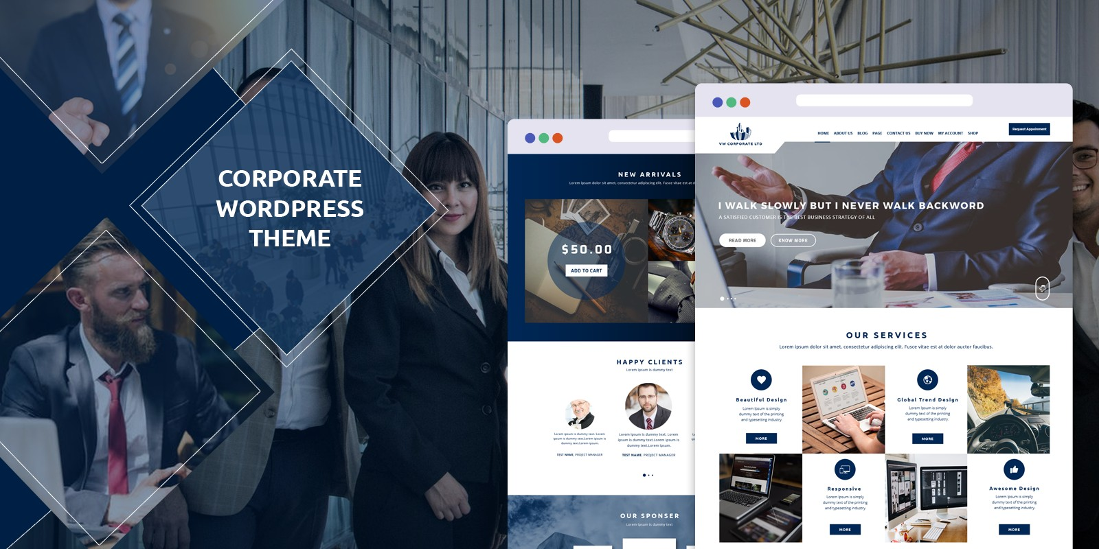 VW Corporate Pro - WordPress Theme
