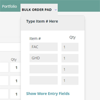 Bulk Order Form - Virtuemart Plugin