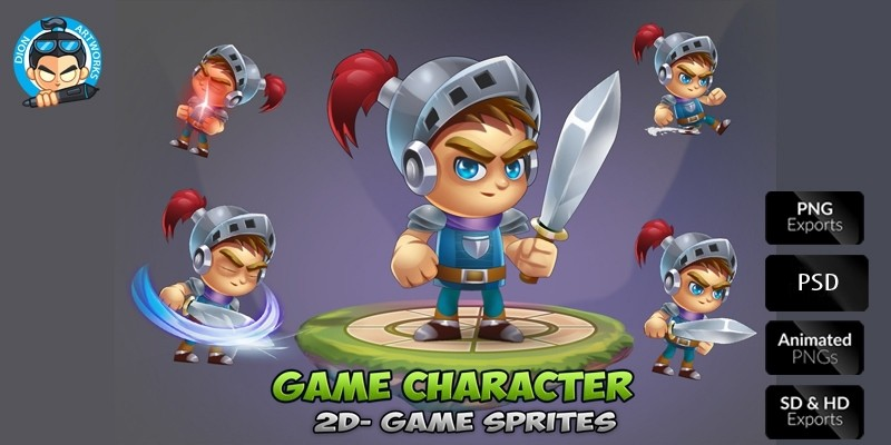 Knight Game Character Sprites 01