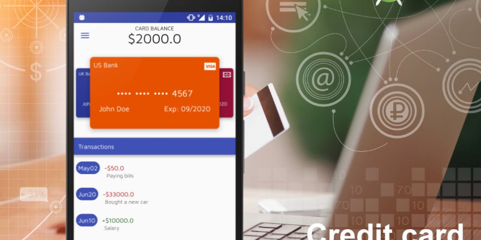 CreditCard Manager - Android Studio UI Kit