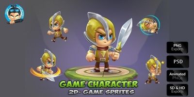 Knight 2D Game Character Sprites 02