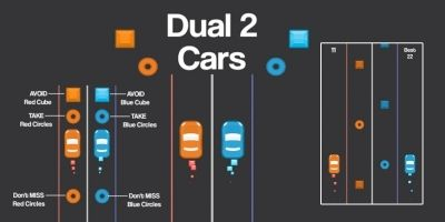 2 Cars Dual - Unity3D Source code