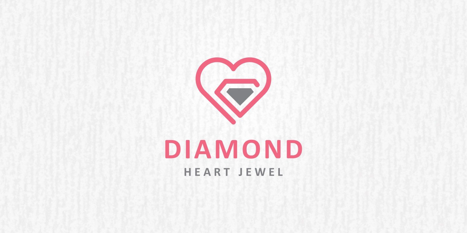 Diamond Heart - Logo Template