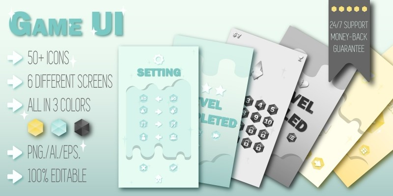 Game User Interface With 50 Icons