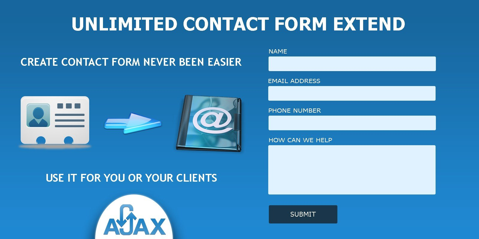 Unlimited  Contact Form Extend PHP