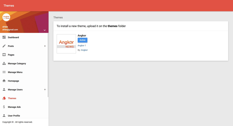Angkor News - News CMS PHP Screenshot 13
