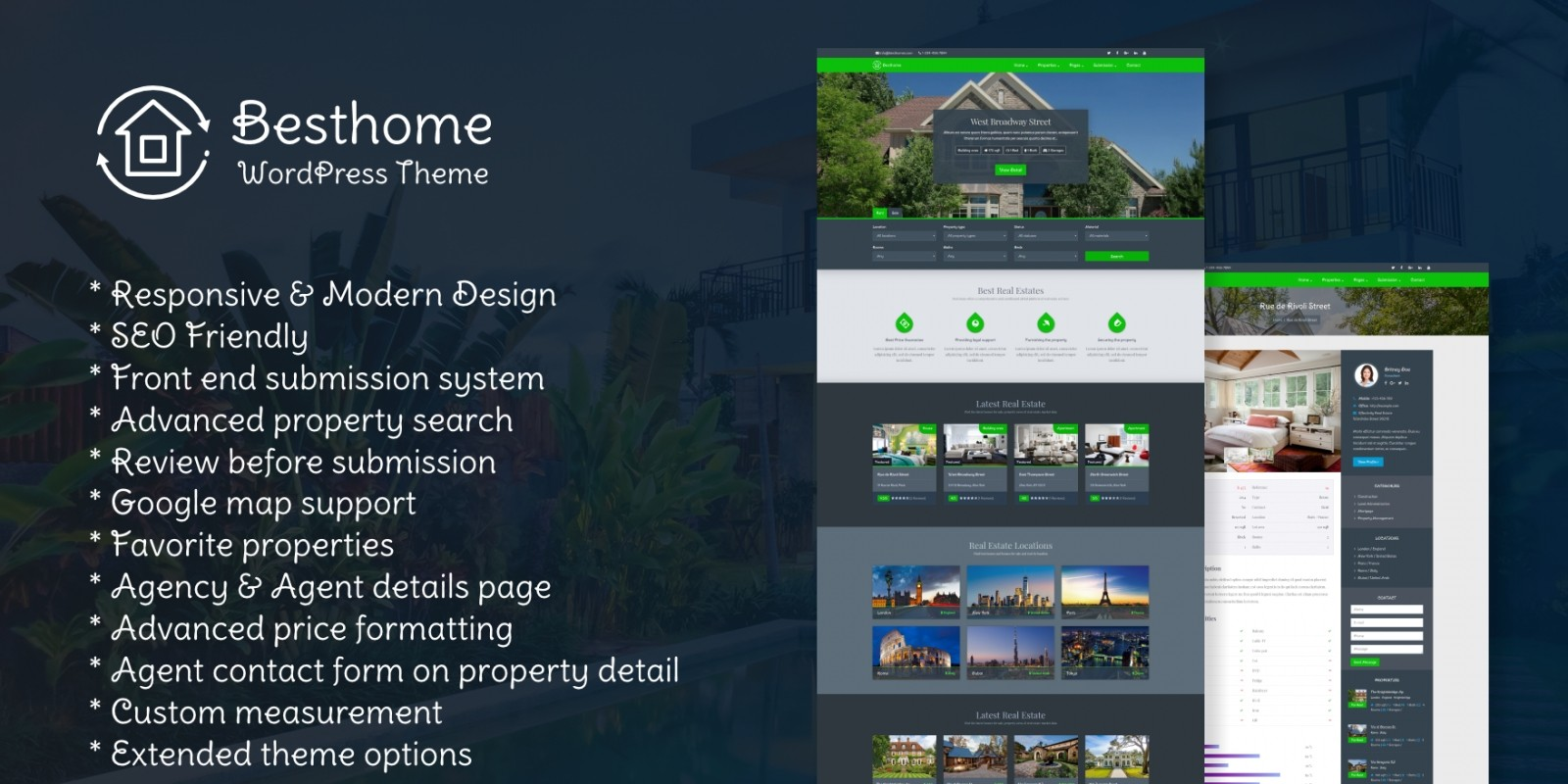 Besthome - Real Estate WordPress Theme