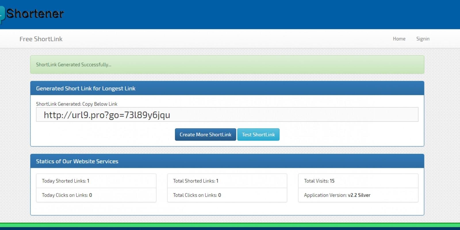ShortLink - Premium URL Shortner ASP.Net Project
