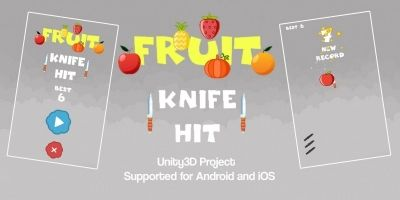 Fruit Knife Hit Unity3D Source Code