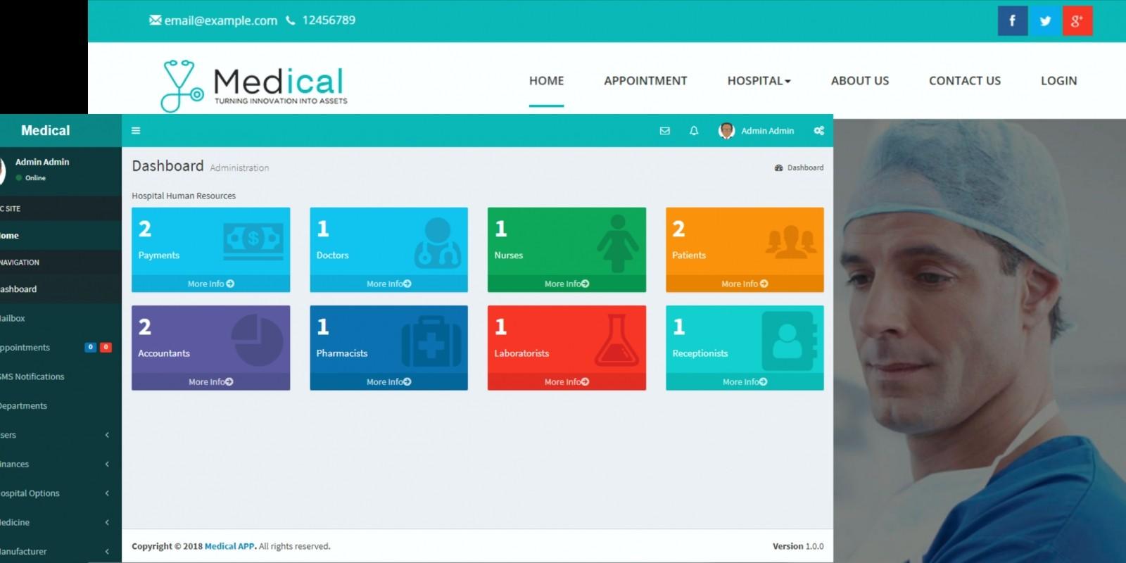 Hospital Management System - PHP Script