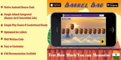 Barrel Bag Game - Android Source Code